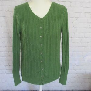 Gap Kelly Green Button Up Cardigan Sweater